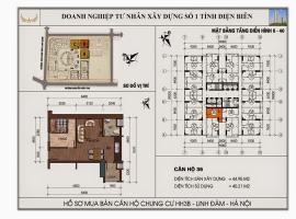 Mặt bằng chi tiết căn hộ số 36 diện tích 44.95m2