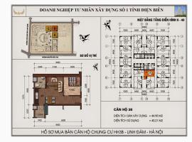 Mặt bằng chi tiết căn hộ số 38 diện tích 44.95m2