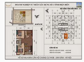 Mặt bằng chi tiết căn hộ số 40 diện tích 63.01m2