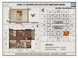 Mặt bằng chi tiết căn hộ số 02 diện tích 76.27 m2
