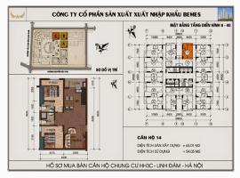 Mặt bằng chi tiết căn hộ số 14 diện tích 63.01 m2
