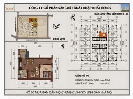 Mặt bằng chi tiết căn hộ số 16 diện tích 44.95m2