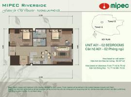 Mặt bằng căn A01 chung cư Mipec Riverside