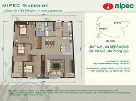 Mặt bằng căn A06 chung cư Mipec Riverside