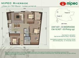 Mặt bằng căn A07 chung cư Mipec Riverside