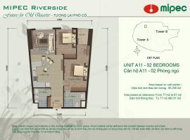 Mặt bằng căn A11 chung cư Mipec Riverside