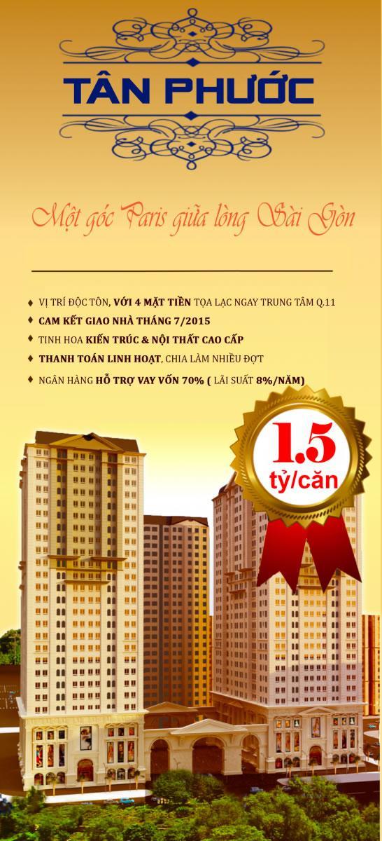 Phối cảnh dự án căn hộ Tân Phước