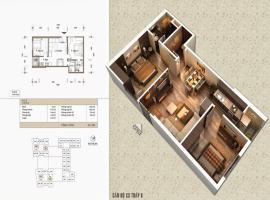 Bán căn 07 Tòa V1 tầng 12-Home City 177 Trung Kính - Tầng: 12