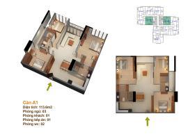 abc06 Tòa 101 tầng 2-Chung cư Goldmark City - Tầng: 2