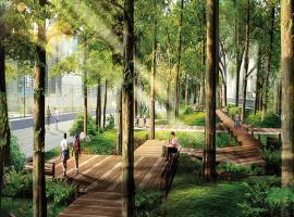 Công viên xanh tại GoldMark City