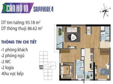 Căn hộ số 10 tòa Sapphire 4 dự án Goldmark city