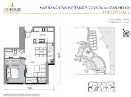 CH10 - Tòa C2 - Tầng 2-22 và 24-31 VinHomes Central Park