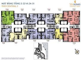 Mặt bằng tầng 2-22 và 24-31