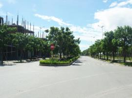 Trục đường chính khu dưỡng sinh thái Hòa Xuân