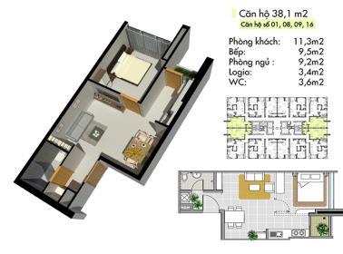 B8 Block B tầng 6-Lotus Apartment Thủ Đức - Tầng: 6