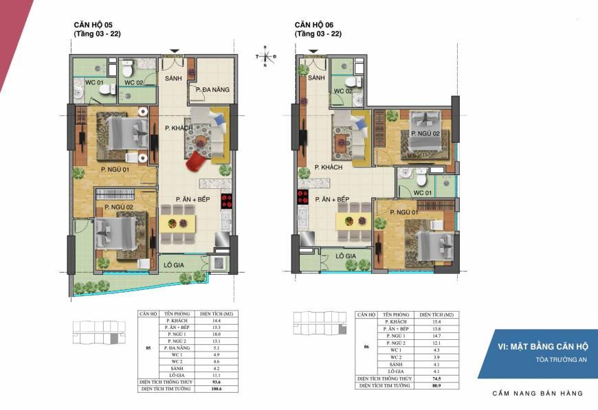 Mặt bằng căn hộ 05 06 dự án Tràng An Complex