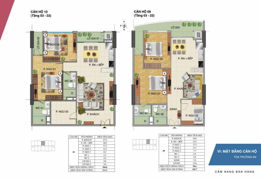 Mặt bằng căn hộ 09 10 dự án Tràng An Complex