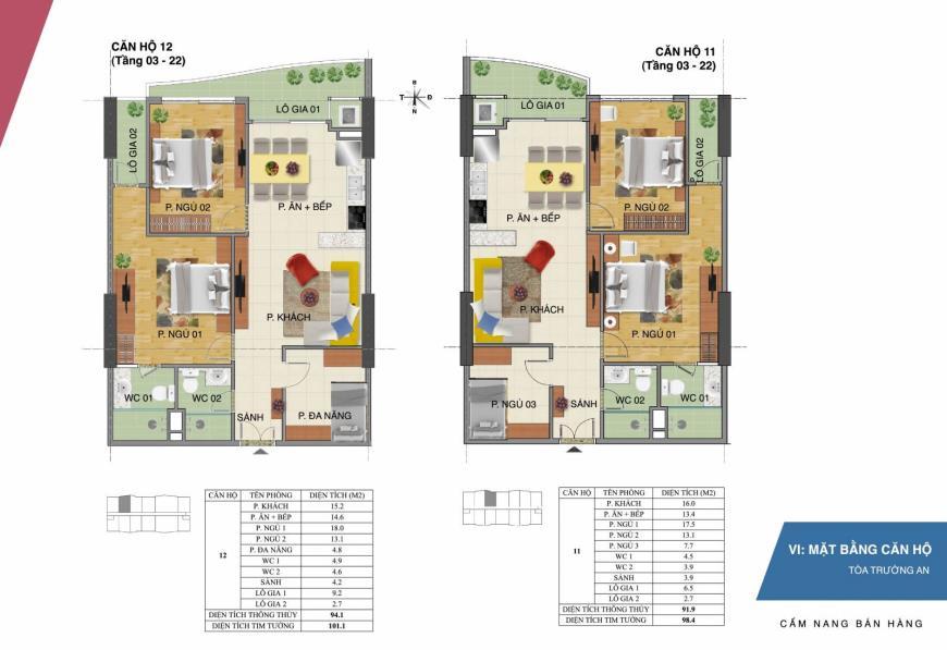 Mặt bằng căn hộ 11 12 dự án Tràng An Complex
