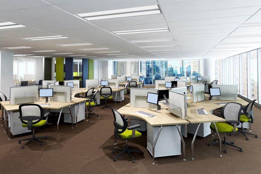 Văn phòng điển hình dự án Tràng An Complex