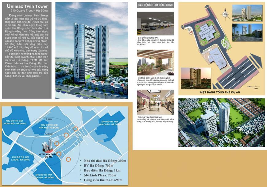 Giới thiệu Chung cư Unimax Twin Tower Hà Đông