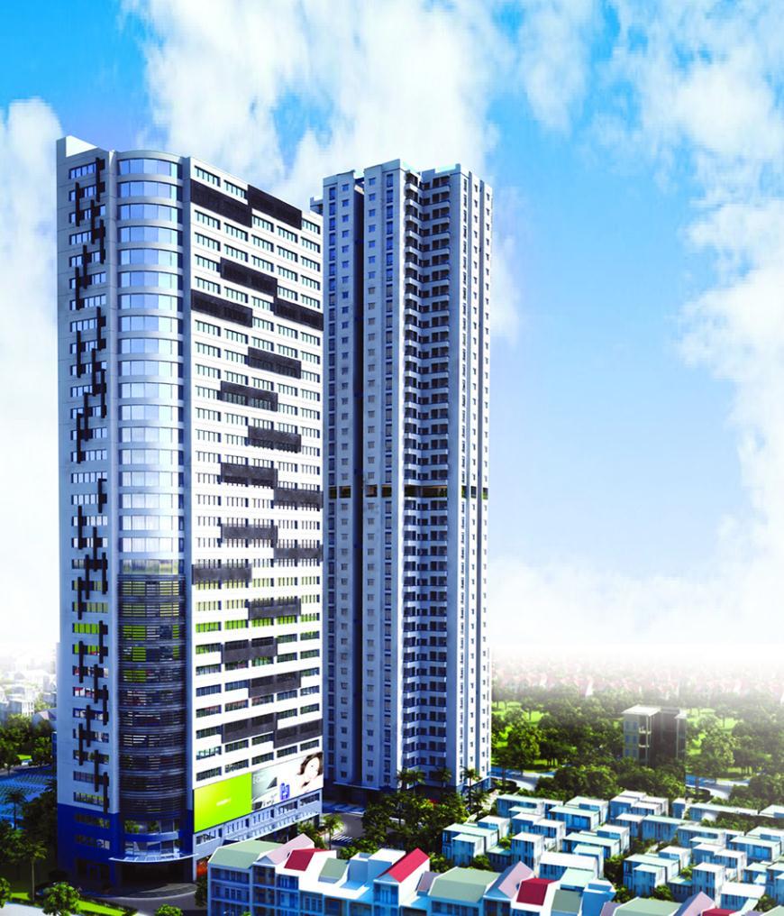Phối cảnh Chung cư Unimax Twin Tower Hà Đông