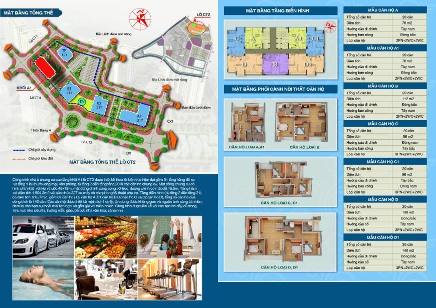 Giới thiệu tiện ích dự án CT2A1 Tây Nam Linh Đàm