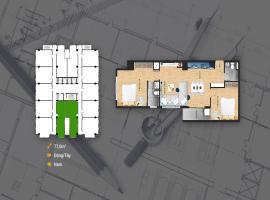 Mặt bằng căn hộ 77.6m2