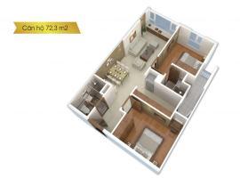 Căn hộ 72,3 m2