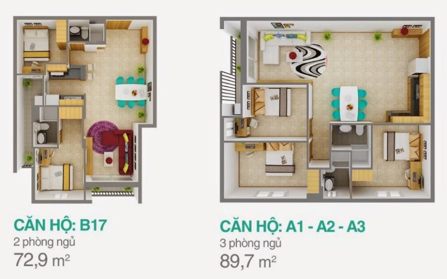 Block B- A1 Căn hộ Melody Residence