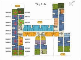 Mặt bằng căn hộ khối A1 tháp A từ tầng 7-24