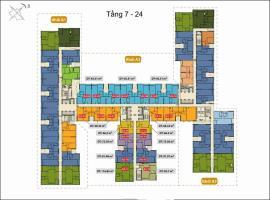 Mặt bằng căn hộ khối A2 tháp A từ tầng 7-24