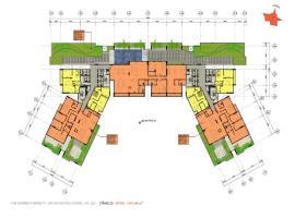 Mặt bàng tổng thể tầng 25 chung cư EverRich Cental