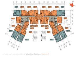 Mặt bàng tổng thể tầng 8-23 chung cư EverRich Cent