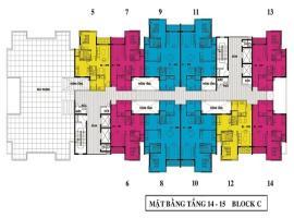 Mặt bằng tầng 14-15 Block C