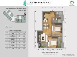 Bán căn hộ B8 The Garden Hill tầng 10-Chung cư 99 Trần Bình - Tầng: 10