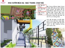 Thiết kế bậc thang chạy bộ trong khu vườn mùa hạ