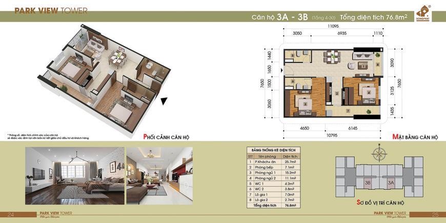 3B Chung cư Đồng Phát Tầng 4-30 tầng 10-