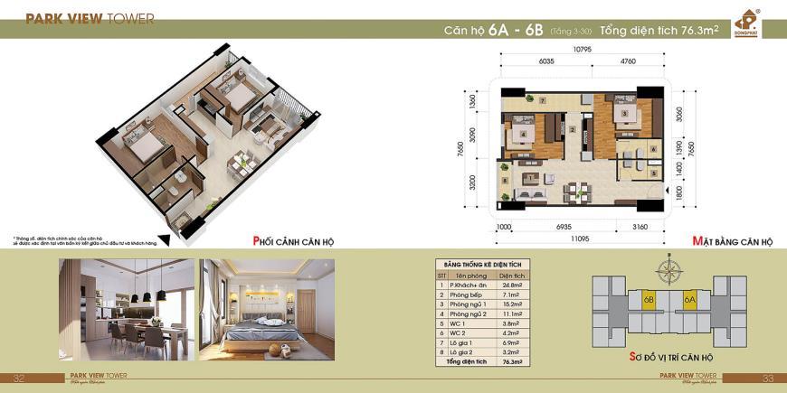 6B Chung cư Đồng Phát Tầng 4-30 tầng 10-