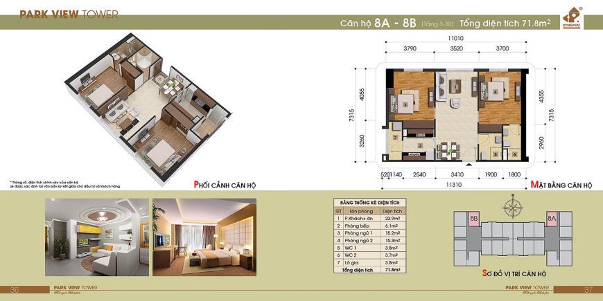 8B Chung cư Đồng Phát Tầng 4-30 tầng 10-