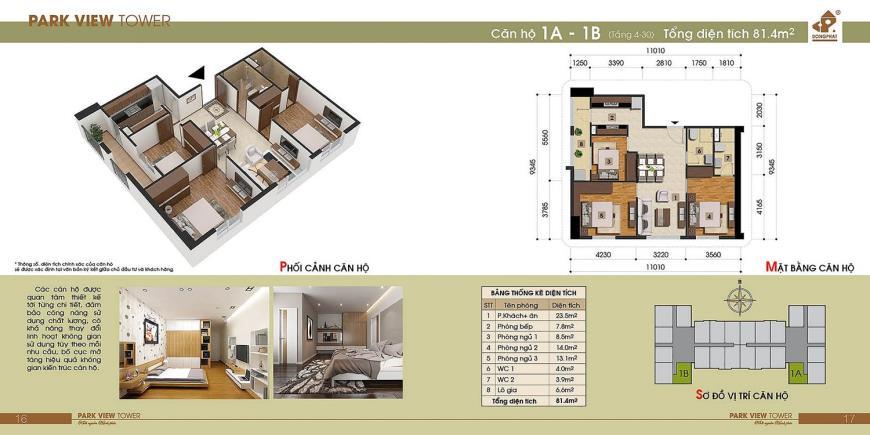 1B Chung cư Đồng Phát Tầng 4-30 tầng 10-