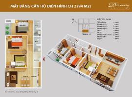 CH02 tầng 15-Chung cư Discovery Complex 2 - Tầng: 15