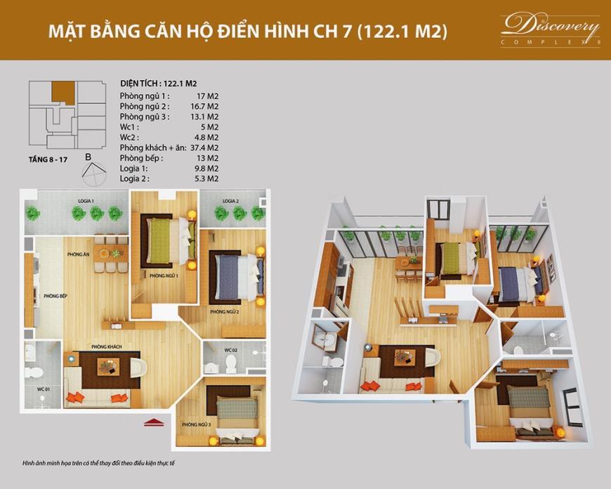 CH07 Chung cư Discovery Complex 2