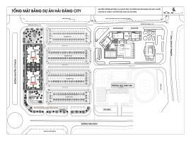 Mặt bằng tổng thể dự án Hải Đăng City