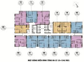Mặt bằng tầng điền hình tầng 8-37 dự án FLC Star t