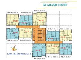 Căn hộ tầng 11,12 Block B dự án Xi Grand Court