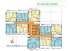 Căn hộ tầng 17,18,19 Block B dự án Xi Grand Court