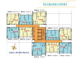Căn hộ tầng 20-27 Block B dự án Xi Grand Court