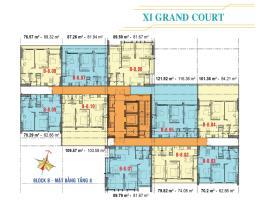 Căn hộ tầng 8 Block B dự án Xi Grand Court