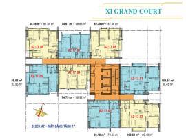 Căn hộ tầng 17 Block A2 dự án Xi Grand Court