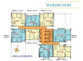 Căn hộ tầng 18 Block A2 dự án Xi Grand Court